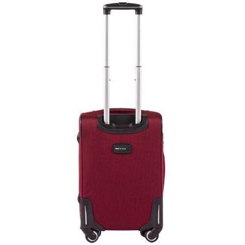 Тканевый чемодан Wings Little Owl 1609-4S маленький на 4-х колесах красный