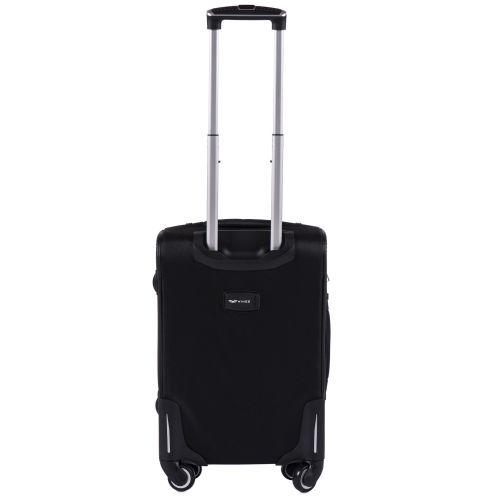 Тканевый чемодан Wings Little Owl 1609-4S маленький на 4-х колесах черный