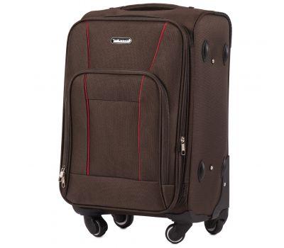Тканевый чемодан Wings Little Owl 1609-4S маленький на 4-х колесах кофейный