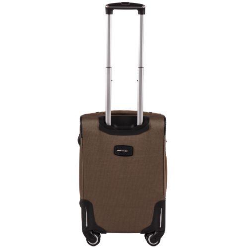 Тканевый чемодан Wings Little Owl 1609-4S маленький на 4-х колесах коричневый