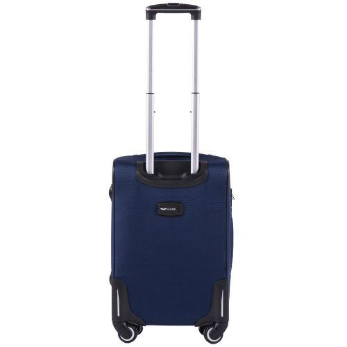 Тканевый чемодан Wings Little Owl 1609-4S маленький на 4-х колесах синий