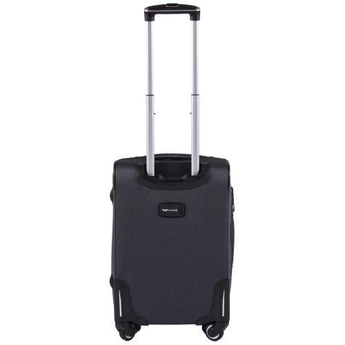 Тканевый чемодан Wings Little Owl 1609-4S маленький на 4-х колесах серый