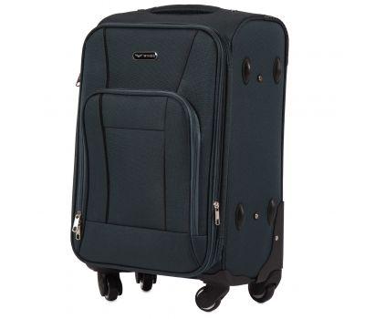 Тканевый чемодан Wings Little Owl 1609-4S маленький на 4-х колесах зеленый