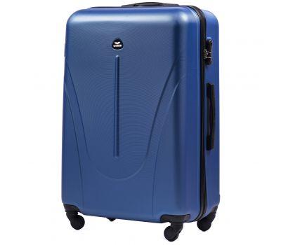 Пластиковый чемодан на колесах Wings Macaw 888 большой голубой