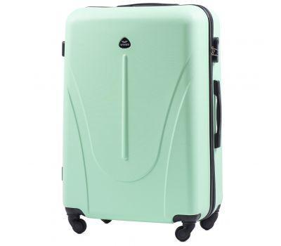 Пластиковый чемодан на колесах Wings Macaw 888 большой мятный
