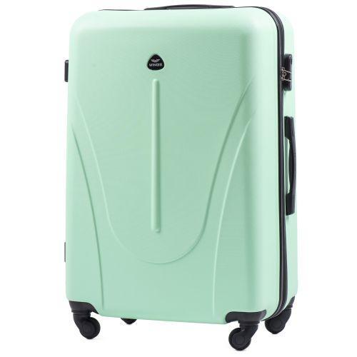 Набор пластиковых чемоданов на колесах Wings Macaw 888 3в1 мятный