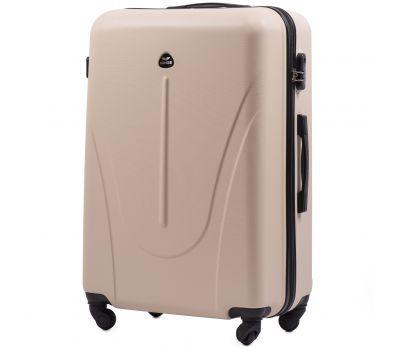 Пластиковый чемодан на колесах Wings Macaw 888 большой ванильный