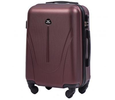 Пластиковый чемодан на колесах Wings Macaw 888 маленький бордовый