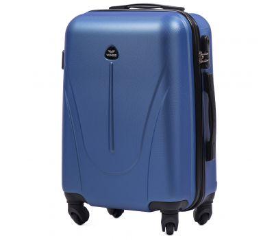 Пластиковый чемодан на колесах Wings Macaw 888 маленький голубой