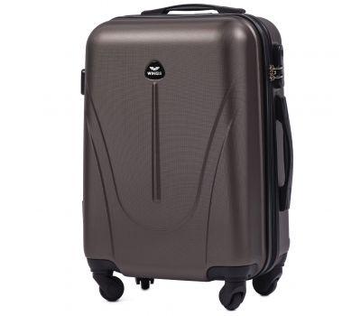 Пластиковый чемодан на колесах Wings Macaw 888 маленький кофейный