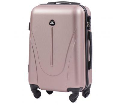 Пластиковый чемодан на колесах Wings Macaw 888 маленький розовое золото