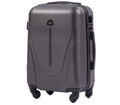 Пластиковый чемодан на колесах Wings Macaw 888 маленький серый