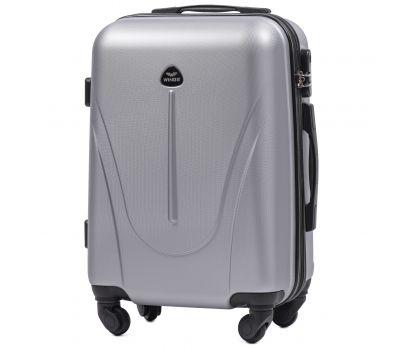 Пластиковый чемодан на колесах Wings Macaw 888 маленький серебряный
