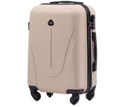 Пластиковый чемодан на колесах Wings Macaw 888 маленький ванильный