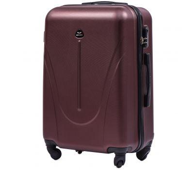 Пластиковый чемодан на колесах Wings Macaw 888 средний бордовый