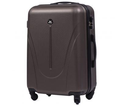 Пластиковый чемодан на колесах Wings Macaw 888 средний кофейный