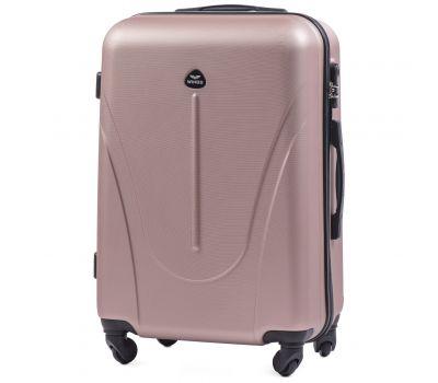 Пластиковый чемодан на колесах Wings Macaw 888 средний розовое золото
