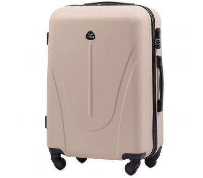 Пластиковый чемодан на колесах Wings Macaw 888 средний ванильный