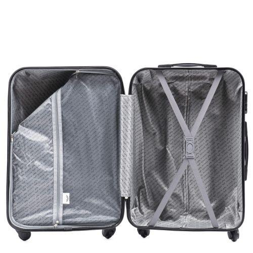 Пластиковый чемодан на колесах Wings Macaw 888 средний серебряный