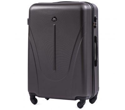 Пластиковый чемодан на колесах Wings Macaw 888 большой серый