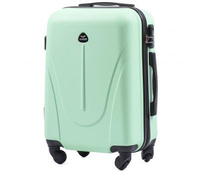Пластиковый чемодан на колесах Wings Macaw 888 маленький мятный