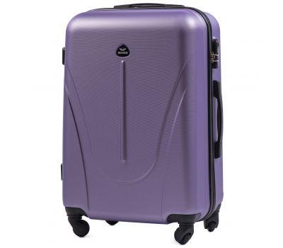 Пластиковый чемодан на колесах Wings Macaw 888 средний фиолетовый