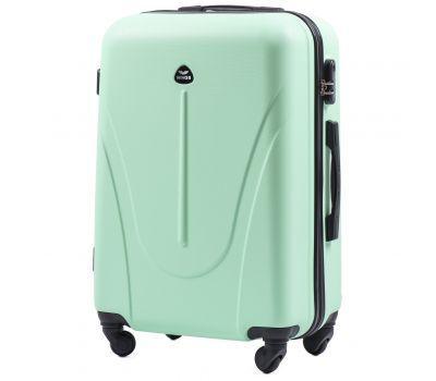 Пластиковый чемодан на колесах Wings Macaw 888 средний мятный