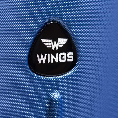 Пластиковый чемодан на колесах Wings Macaw 888 средний серый