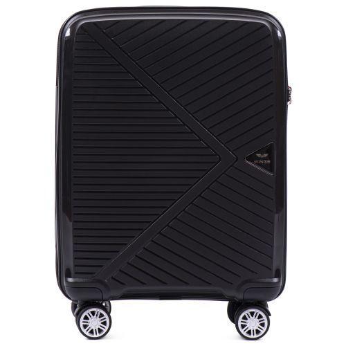 Полипропиленовый чемодан Wings Mallard PP06 маленький черный