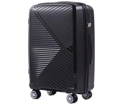 Полипропиленовый чемодан Wings Mallard PP06 средний черный