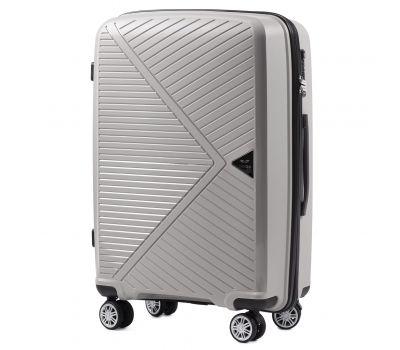 Полипропиленовый чемодан Wings Mallard PP06 средний серебряный