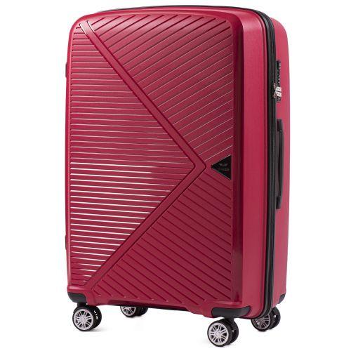 Набор полипропиленовых чемоданов Wings Mallard PP06 3 штуки красный