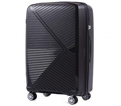 Полипропиленовый чемодан Wings Mallard PP06 большой черный