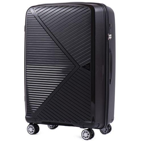 Набор полипропиленовых чемоданов Wings Mallard PP06 3 штуки черный