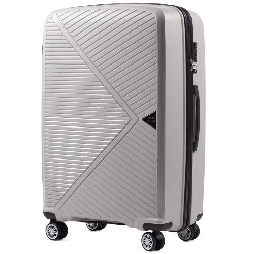 Набор полипропиленовых чемоданов Wings Mallard PP06 3 штуки серебряный