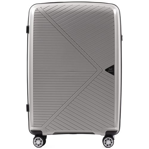 Полипропиленовый чемодан Wings Mallard PP06 большой серебряный