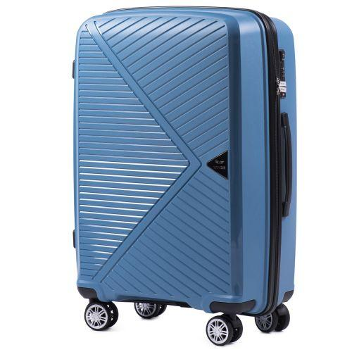 Набор полипропиленовых чемоданов Wings Mallard PP06 3 штуки голубой