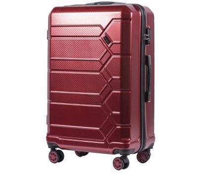 Поликарбонатный чемодан Wings Savanna 185 большой бордовый
