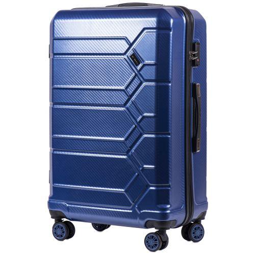 Набор чемоданов из поликарбоната Wings Savanna 185 3 штуки middle blue