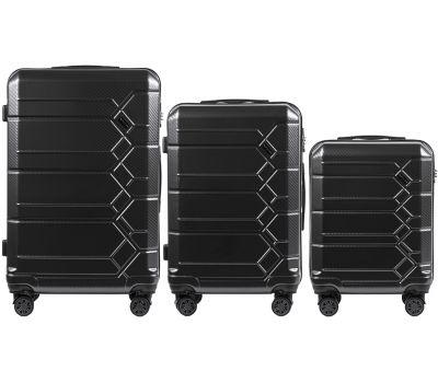 Набор чемоданов из поликарбоната Wings Savanna 185 3 штуки серый