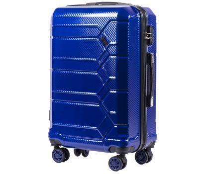 Поликарбонатный чемодан Wings Savanna 185 средний синий