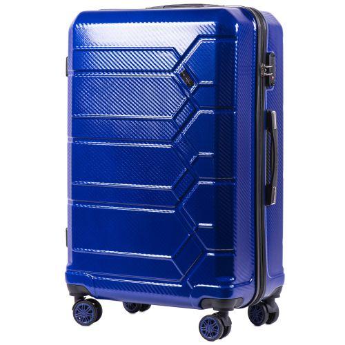 Набор чемоданов из поликарбоната Wings Savanna 185 3 штуки синий