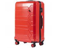 Поликарбонатный чемодан Wings Savanna 185 большой красный