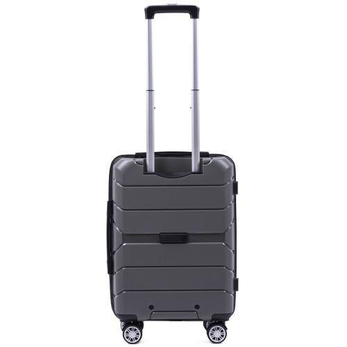 Полипропиленовый чемодан Wings Sparrow PP05 маленький серый