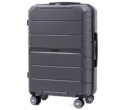 Полипропиленовый чемодан Wings Sparrow PP05 средний серый