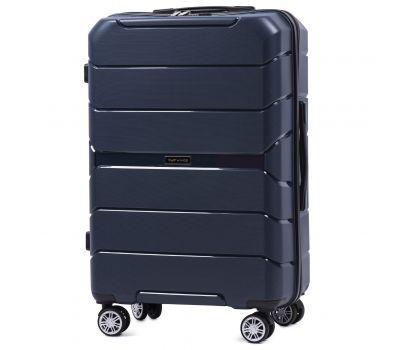 Полипропиленовый чемодан Wings Sparrow PP05 средний синий