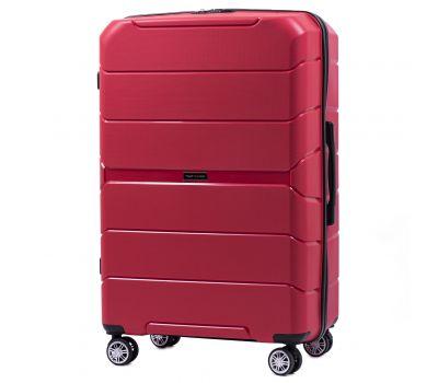 Полипропиленовый чемодан Wings Sparrow PP05 большой красный