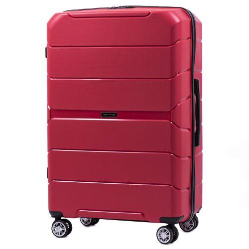 Набор полипропиленовых чемоданов Wings Sparrow PP05 3 штуки красный