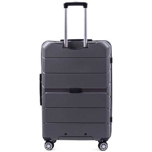 Набор полипропиленовых чемоданов Wings Sparrow PP05 3 штуки серый