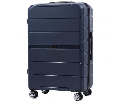 Полипропиленовый чемодан Wings Sparrow PP05 большой синий